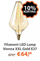 Filament LED Lamp Vienna XXL Gold E27 6W