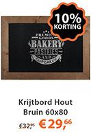 Krijtbord Hout Bruin 60x80