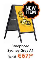 Nieuw a-stoepbord grey a1